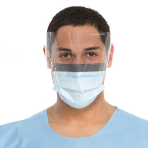 FLUIDSHIELD* Level 2 Fog-Free Procedure Mask, WrapAround Visor