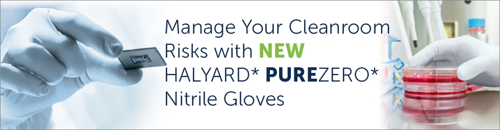 Controlled Environment I HALYARD* PUREZERO* Cleanroom Gloves